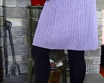 Womens Size Medium to Size Large Upcycled Skirt sewn from a sweater.