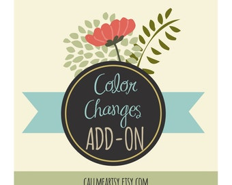 Color Changes Add On - I will change the colors in a design for you when possible