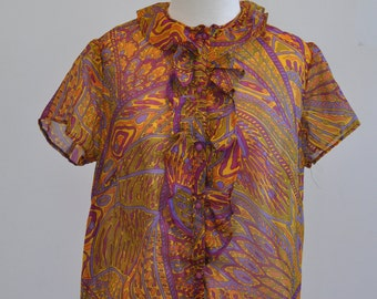 Handmade 1970's Psychadelic shirt
