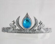 Snow Queen Frozen Elsa Princess Corwn Headband, Halloween Headband, Kids Headband, Girl Headbands - Silver