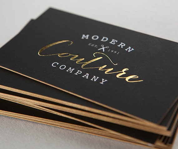 500 soft touch cards with foil stamping for Zoum business cards