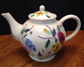 Vintage 1940s Blue Ridge Tea Pot Floral