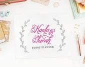 Custom Premade Logo Design | Pink Laurel Modern Minimalist Logo for Photography, Fashion, Wedding, Florist, Etc.