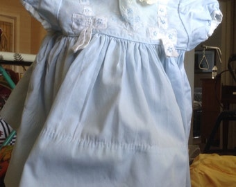 Lovely Blue Handmade Baby Dress