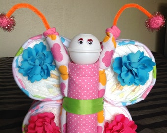 Beautiful Diaper Butterfly for girl