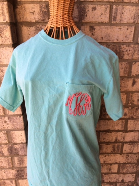 Chalky mint comfort colors t shirt large by mytruesouth on for Mint color t shirt