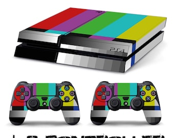 PS4 SKIN color tv + playstation 2 controller sticker decal 4 sony