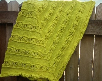 Yellow Lace Baby Blanket