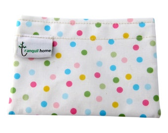 Snack Bag Reusable Food Grade Snack/Food Pouch Polka Dots