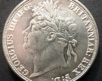 Interesting Old Replica Coin - British King George IV Crown Dated 1822