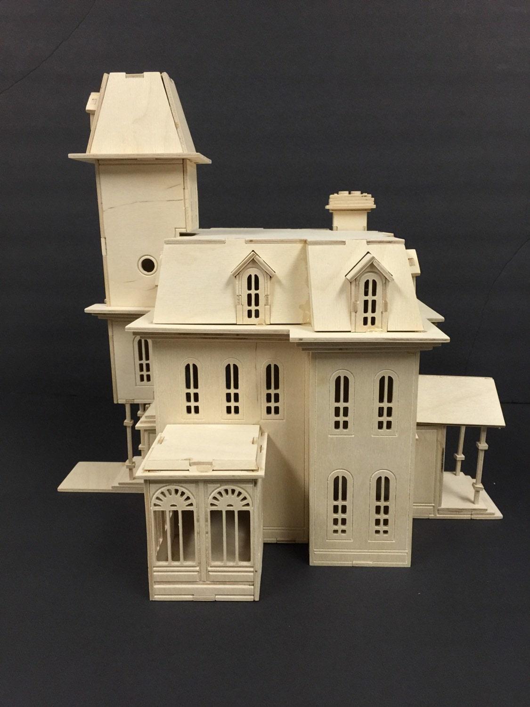 Addam S Family House Model Kit Laser Engraved Wooden