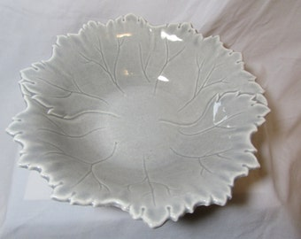 """Steubenville """"Woodfield"""" Large Serving Bowl, Soft Grey, 1950's"""