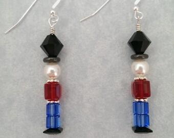 Swarovski dangle Toy Soldier earrings