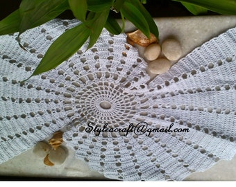 Magnificent Shell Doily Spiral Fractal Pattern