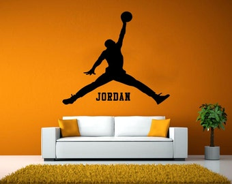 Michael Jordan Jumpman Basketball Player Vinyl Wall Decal Sticker