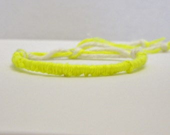 Adjustable Neon Yellow Friendship Bracelet