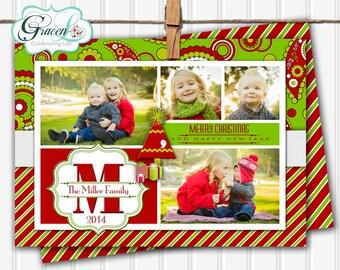 Photo Christmas Card, Colorful Christmas Card, Unique Christmas Card, Personalized Christmas Card, Printable Christmas Card, Holiday Card