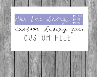 CUSTOM FILE FEE