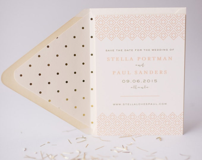 stella  save the date invitation  -  customizable (sets of 10)  //  lola louie paperie