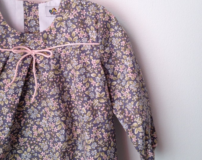 SALE 20%, BEFORE- 39.99, NOW-31.99, Girls dress, Floral print dress, Retro Dress, Vintage style dress, Dress Long Sleeve, Dress clasic style