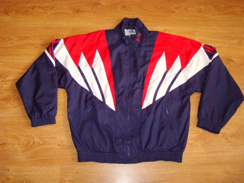 vintage veste adidas trois rayures track jacket taille l. Black Bedroom Furniture Sets. Home Design Ideas