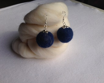 Unique needle felted handmade earrings.