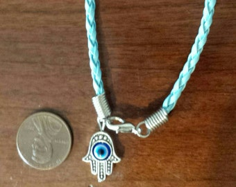 Charm bracelet, blue, ward off the evil eye