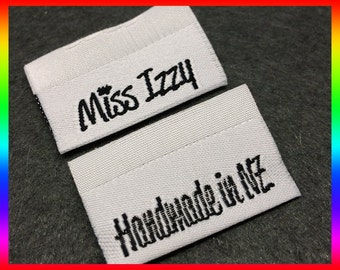 350 clothing labels, Custom woven labels and tags, Custom clothing woven label for Text Only