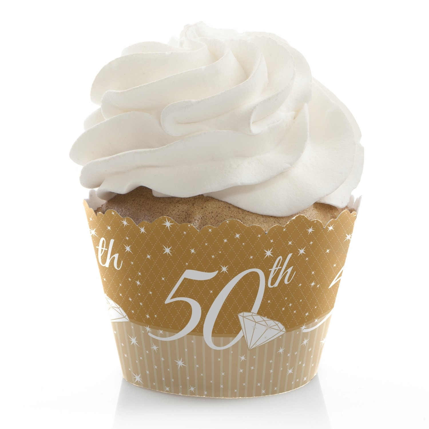 50th Anniversary Cupcake Wrappers Anniversary Party Cupcake