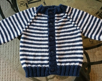 HandKnitted Soft and Cozy Baby Boy Cardigan