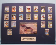 Honoring the Kansas City Royals - 1980 A.L. Pennant Winners led by Hall of Famer George Brett