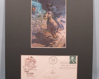 The American Revolution - The Midnight Ride of Paul Revere & First day Cover of the Paul Revere stamp