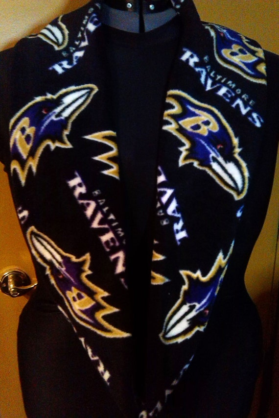 baltimore ravens fleece infinity scarf by diva331 on etsy