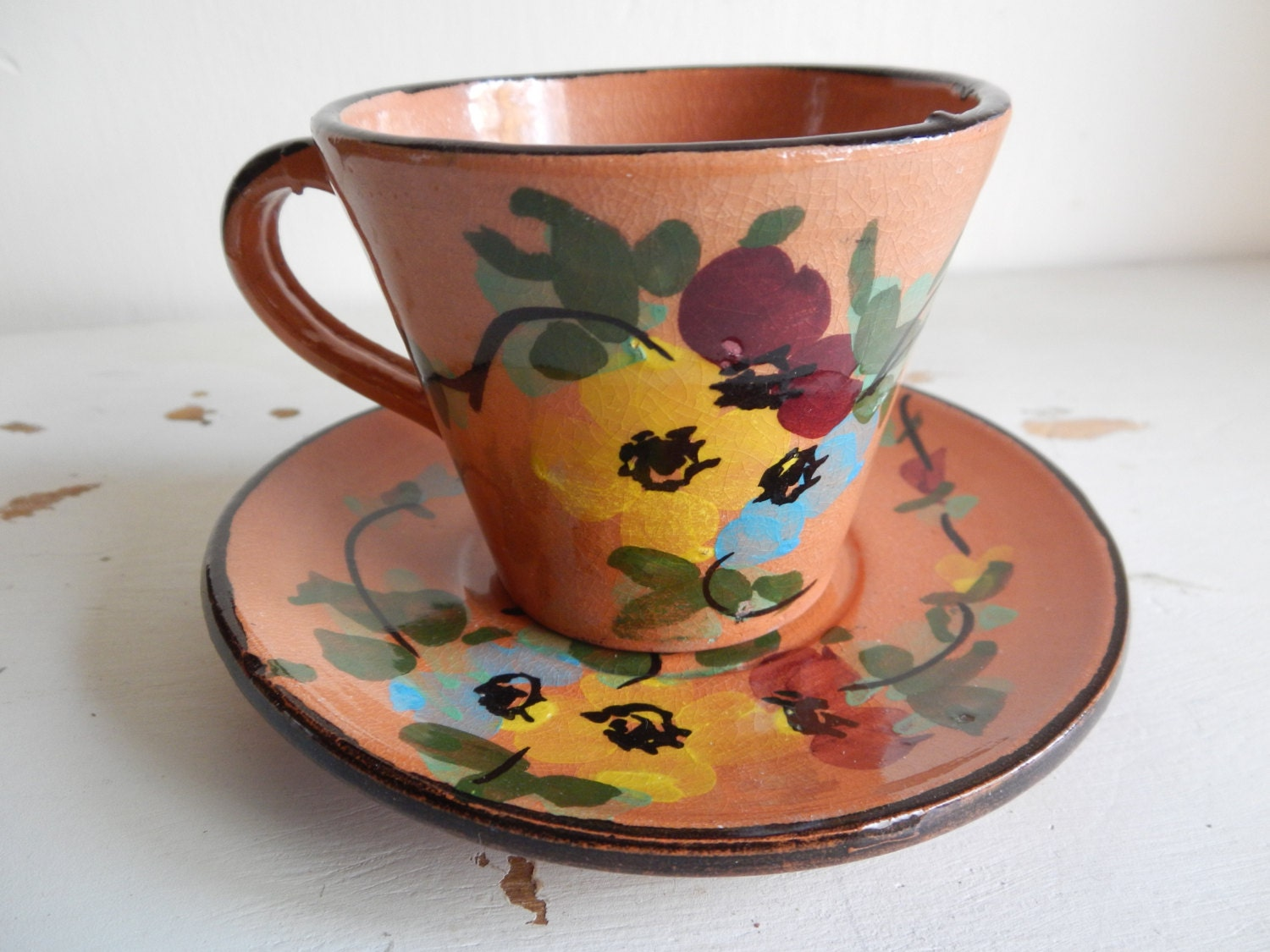 Cute mexican pottery teacup set for Cute pottery designs