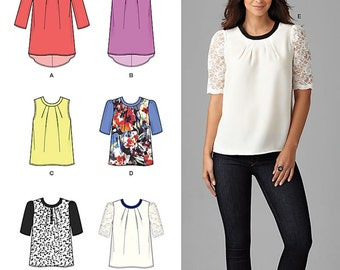 Misses' Top with Length Variations Simplicity Pattern 1253