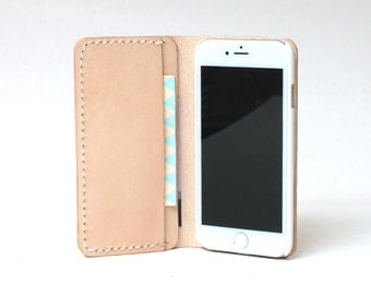 iPhone 5S Case Leather, iPhone 5S Wallet Case, iPhone 5 Leather Case, iPhone SE Wallet Leather, iPhone 5 SE Wallet Leather, Natural Tan