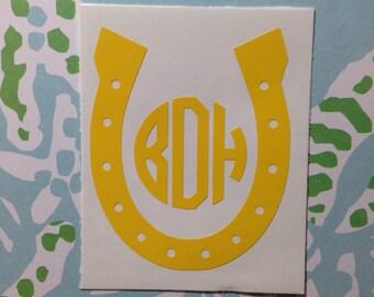 Horseshoe Monogram Decal