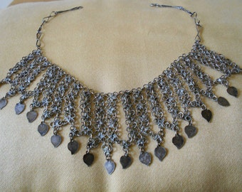 Moroccan silver jewelry - Vintage ethnic necklace - Handmade -  Free shipping