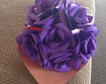 Beautiful handmade paper flower bouquet, intricare roses, any colour.
