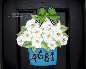 Daisy Bouquet Door Sign
