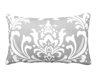 7 Sizes Available: Throw Pillow Cover Decorative Pillow Grey Pillow Gray Pillow Damask Pillow Sofa Pillow Grey Home Decor Gray Home Decor