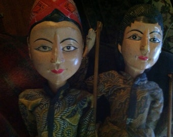 Pair of Indonesian Puppets