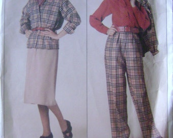 VINTAGE Vogue Pattern 0995 Misses' Jacket, Skirt, Pants & Blouse