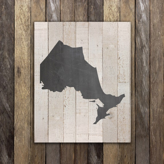 home decor stores in hamilton ontario ontario map chalkboard decor canadian by northernrustication 13328