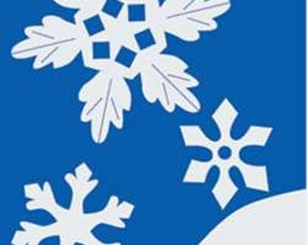 Snowflake Handcrafted Applique House Flag