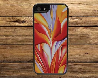 Cell Phone Case, Red Canna By Georgia O'Keeffe - iPhone 6/6s, 6/6s Plus, 5/5s, 5C, 4/4s - iPod 6, 5, 4 - Samsung Galaxy S6 S5 S4 S3