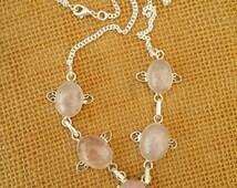 Rose quarts necklace