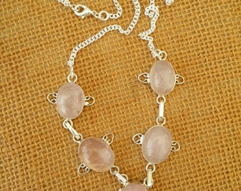 Rose quarts necklace