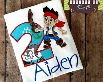 Jake and The Neverland Pirates Birthday Shirt/ Bodysuit