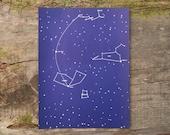 1957 - Vintage Virgo, Leo & Corvus Print - Mid Century Solar System Color Plate